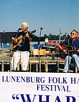 Rose Vaughan and Bill Plaskett at Lunenburg Folk Harbour Festival